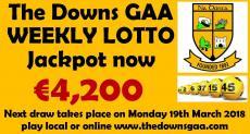 Club Lotto Jackpot is €4,200 !