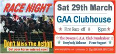 Race Night Sat 29th March