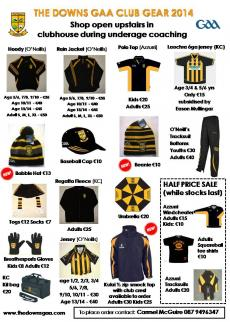 Club gear for 2014