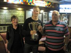 Mary, Brian and Kerry captain Fionn Fitzgerald with Munster Cup
