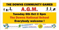 The Downs Community Games AGM this Tues