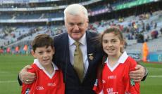 Ciara & Fionn refereeing in Croke Park