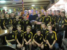 Kerry captain Fionn Fitzgerald with Munster Cup