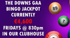 This Friday's Bingo Jackpot is €4600