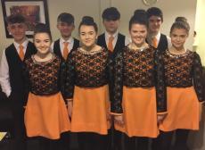 Set Dancers baclstage at Leinster Finals