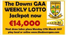Lotto jackpot €14,000 !