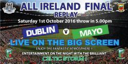 All Ireland Final Replay in Áras Bharróg