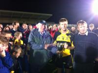 Chris Kenny receiving U21 cup
