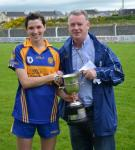 Carol O'Leary Receives The Cup From Alan Copley