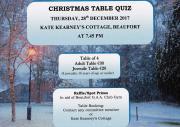 Christmas Table Quiz-Thursday,28th December 2017