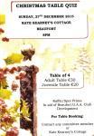 Christmas Table Quiz-Sunday,27th December 2015