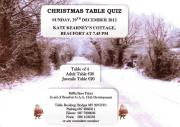 Christmas Table Quiz-Sunday, 29th December 2013