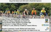 Thanks to all Cyclists, Sponsors and Volunteers