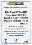 Beaufort G.A.A Club Golf Classic. Friday, 2nd June 2017