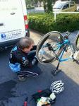 Mick Noonan doing running repairs