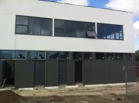 Exterior of building nearing completion