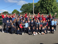 Mid-Cork Champions visit Inchigeela NS