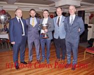 Junior A Football Captain FInbarr McSweeney, with team management John McNulty, Don Murphy, Dan Kelleher and John F O'Callaghan.