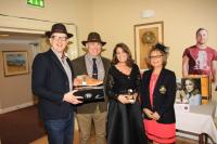 Kevin O'Regan and Pam Sheehan sponsors presenting Rob Walsh with the Best Dressed Man prize, with Helen Houlihan