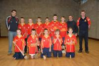 Tom Kenny with young hurlers