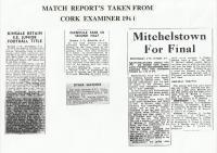 1961.Match Report's J.F.C.