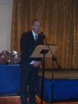 Chris speaking at Dinner Dance
