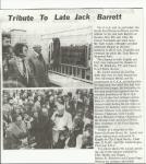Tribute to Jack Barrett