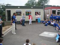 Cian speaking at Summercove school