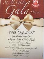 Gala Dinner 14th October, email eventsbrigids@gmail.com to reserve your tickets