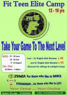 Fit Teen Elite Camps 27 to 29 June, 18-20 July 8-10 August