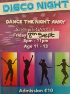 Back to School Disco 8th September