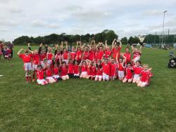 U9 Ladies Football squad May 28th 2017