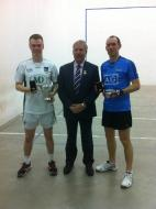 All_Ireland Final 2017 (Hardball) CJ Fitzpatrick, Joe Masterson (President Irish Handball Council), Eoin Kennedy