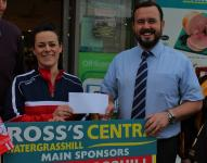 Claire O' Leary with Ken Ross of Centra Watregrasshill