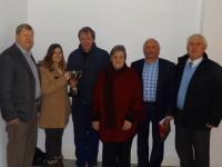 Scor Winners Maeve O' Reilly receiving the Dan Keneally Trophy