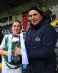 Munster Intermediate Club Final captain Susan with Anthony