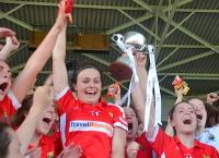 Eimear & Hannah Cork Minor champions