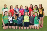 Juilet Murphy with St Val`s girls at Cork Key2Coaching workspop
