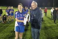 Louise Ryan was presented the Senior B cup by Anthony O Brien