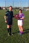 Arthur Murphy presents Allanah O Neill captain Regina Mundi Munster PP Sen D Plate 2017