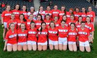 Cork LGFA U 16 team 2017 who drew wit Tipperary