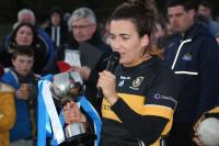 Brid O Sullivan captain Mourneabbey Munster LGFA Senior Club Final
