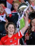 Ciara O Sullivan Cork with TESCO NFL Cup