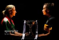 Captains, Cora Staunton of Carnacon, and Bríd O'Sullivan of Mourneabbey, with the Dolores Tyrrell Memorial Cup
