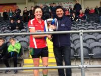 Amy Turpin Captain Glanmire Munster Club Champions 2018