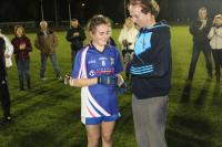 Kelly Ann Hogan was awarded the player of the match Munster Senior B