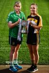 Emma Farmer of Aghada, and Laura McEnaney of Corduff as they both captain their sides in this Saturday's Ladies All-Ireland Juni