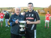 Paul O'Riordan(C)accepts Division 1 cup 2012