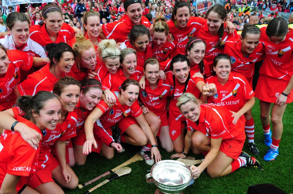 166569a78b96 ... the victorious Cork camogie team