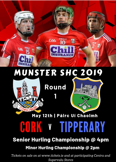 eaac44f132522 Cork Senior Hurling team for this game will be announced at 9pm on Friday  10th May on www.gaacork.ie